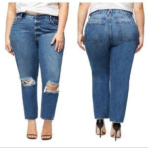 GOOD AMERICAN Good Vintage Blue244 HR Jeans 14 32